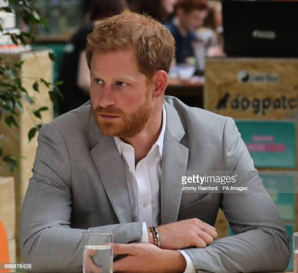 The Duke of Sussex visits DogPatch Labs, a co-working space for technology start-ups located in Dublin's 'Digital Docklands' during his visit to the...