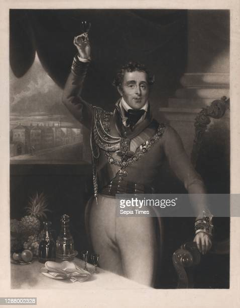 The Duke of Wellington, William Say , After Michael William Sharp , Arthur Wellesley, 1st Duke of Wellington Mezzotint, Sheet: 18 1/4 × 14 5/16 in. ,...