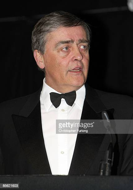 The Duke of Westminster gives a speec in the presence of Prince Charles Prince of Wales during a Prince's Trust reception dinner and ball at Eaton...