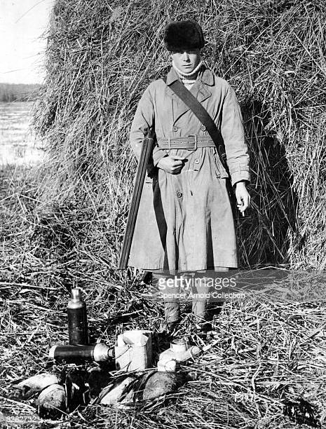 The Duke of Windsor as Edward Prince of Wales near Manitoba during a royal tour after returning from shooting ducks He reigned as King Edward VIII...