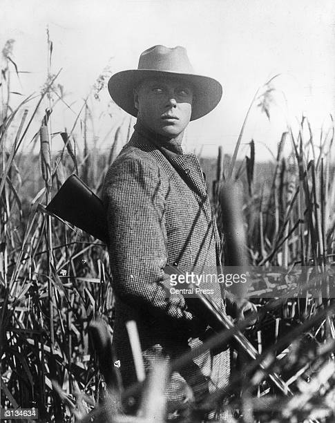The Duke of Windsor as Prince of Wales on a shooting expedition during a royal tour of Canada He reigned as King Edward VIII from January to December...