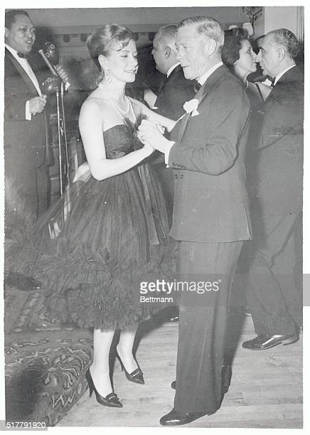The Duke of Windsor enjoys a dance with Mrs Tina Onassis at the Mon Plaisir during a party given for the Duke and Duchess of Windsor by Elsa Maxwell...