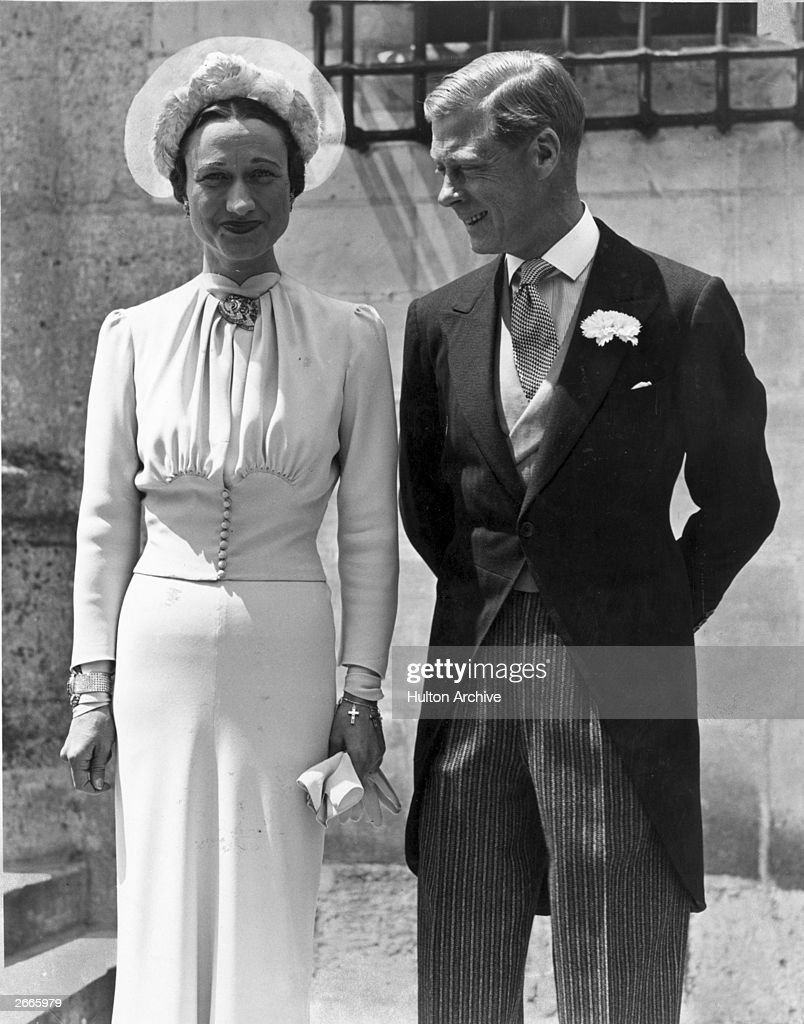 The Duke of Windsor (1894 - 1972) marries American divorcee Mrs Wallis Simpson (1896 - 1986) at the Chateau de Conde, France.