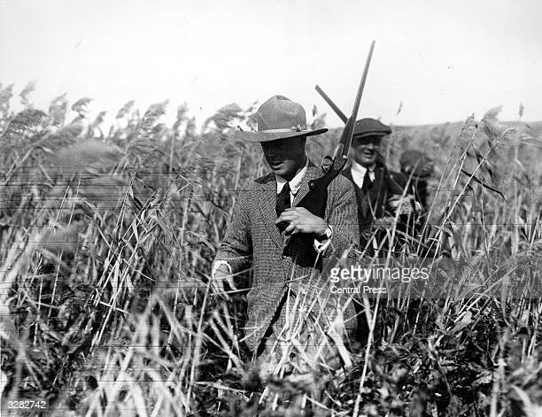 The Duke of Windsor then Edward Prince of Wales on a shooting expedition on Qu'Appelle Lake Edenwald during his royal tour of Canada He succeeded his...
