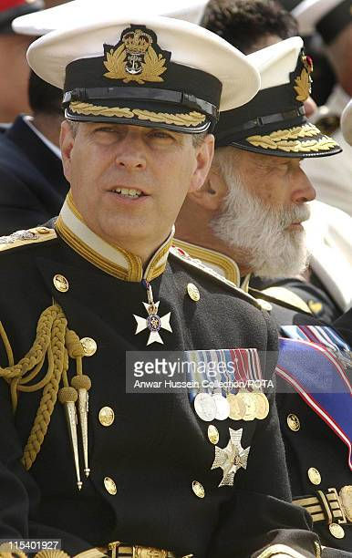 The Duke of York and Prince Michael of Kent at the International Drumhead Ceremony at Portsmouth's Naval War Memorial on Southsea Common Wednesday...