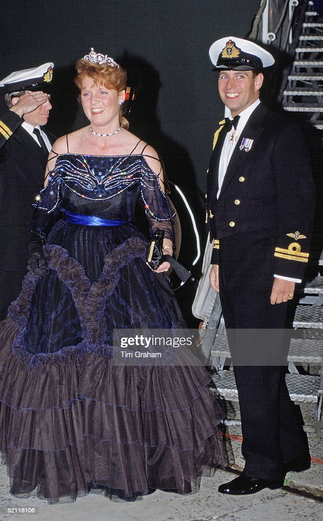 Andrew And Sarah At Naval Dinner In Sydney : News Photo