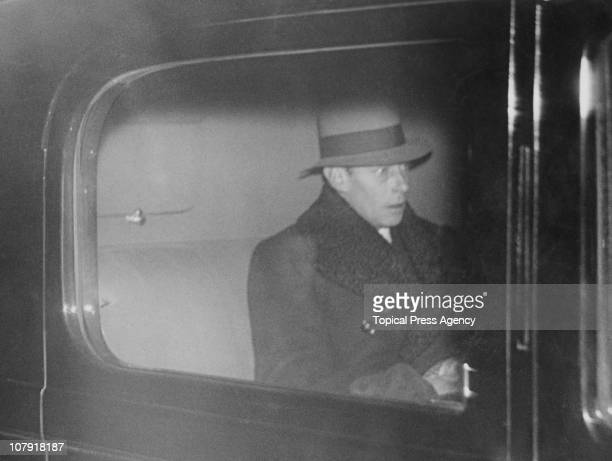 The Duke of York arriving at his home 145 Piccadilly London 10th December 1936 The next day the Duke became King George VI following the abdication...