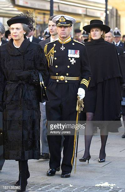The Duke Of York Attends The Funeral Of Grand Duchess JosephineCharlotte Of Luxembourg At The Cathedral NotreDame Du Luxembourg