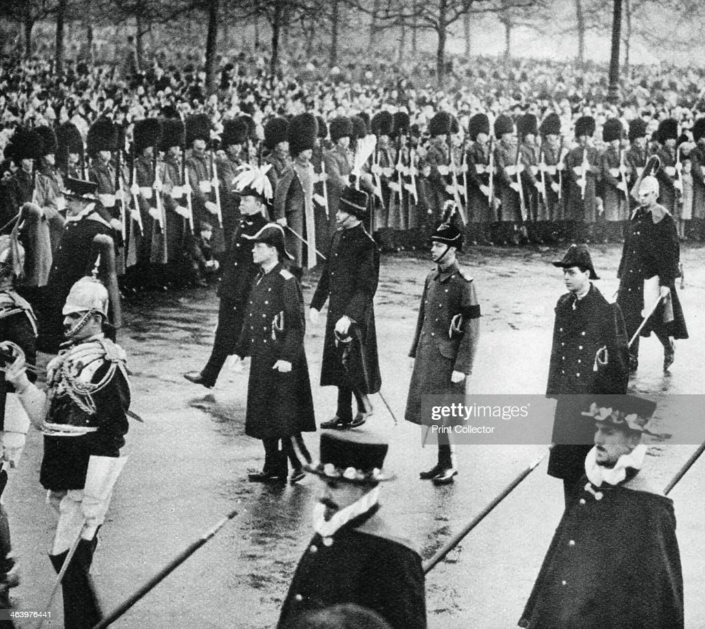 The Duke of York in King George V's funeral procession, 1936, (1937). : News Photo