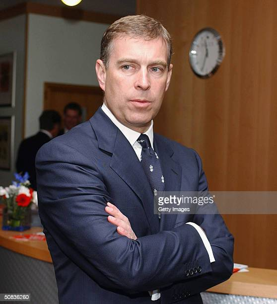 The Duke of York officially reopens the new shop and receprtion area at The British Golf Museum May 14 2004 in St Andrews Scotland The Duke of York...