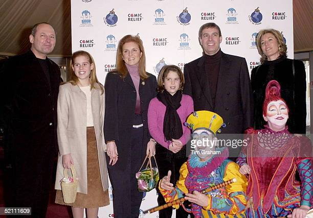 The Duke Of York [ Prince Andrew ] And The Duchess Of York [ Sarah ] With Their Daughters Princess Beatrice Princess Eugenie At The Cirque Du Soleil...