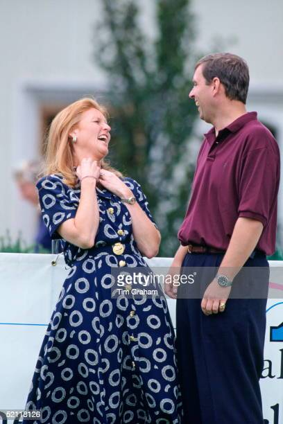 The Duke Of York With His Exwife The Duchess Of York At Wentworth Golf Club For A Golf Tournament In Aid Of The Motor Neurone Disease Association...