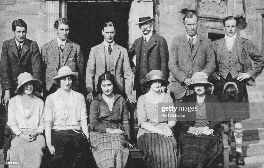 The Duke of York with the Earl of Strathmore's shooting party, Scotland, 1921. : News Photo
