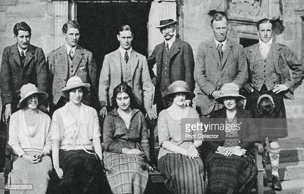 The Duke of York with the Earl of Strathmore's shooting party Scotland 1921 The Duke of York with the Earl of Strathmore his fatherinlawtobe Lady...