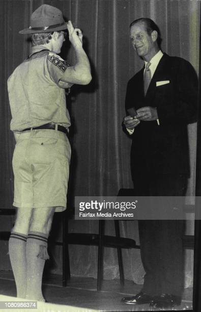 The Duke presents Duke of Edinburgh Award gold medals April 01 1971