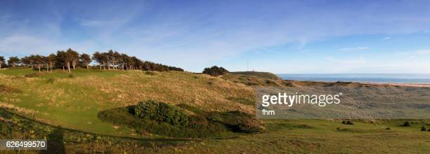 The dunes and dikes at Barneville-Carteret, Normandy/ France