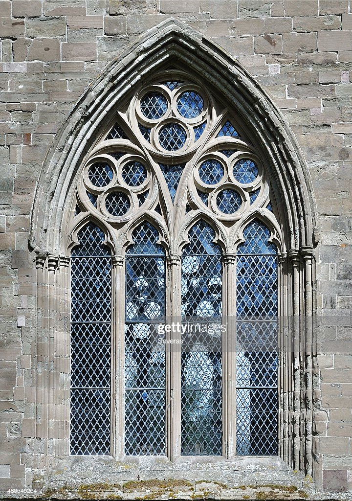 The Dunkeld cathedral window : Stock Photo