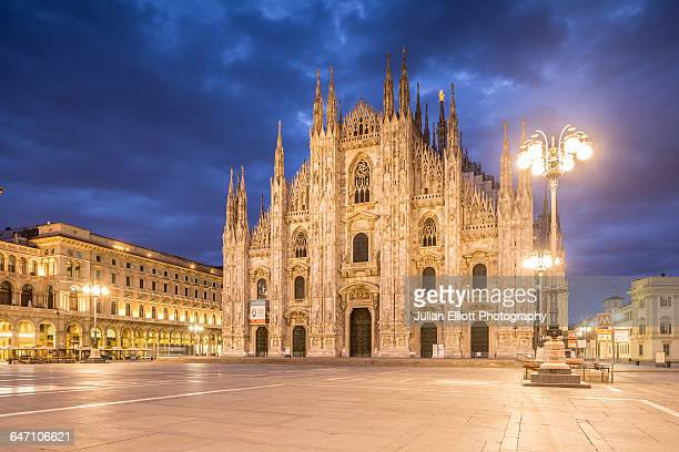 the duomo di milano or milan cathedral, italy. - cathedral stock pictures, royalty-free photos & images