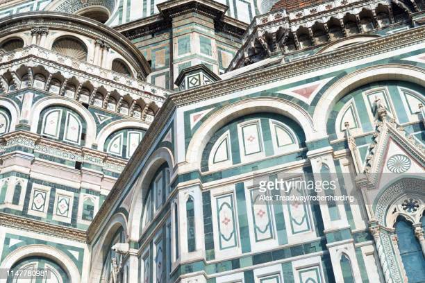 the duomo (cathedral) in florence, unesco world heritage site, tuscany, italy, europe - luogo d'interesse internazionale foto e immagini stock