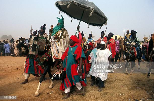 The Durbar in Kano Royal Ostentation for an Idolized Emir in Nigeria in January 2000 Emir Ado Bayero and his Entourage riding to his Farm in Doyar
