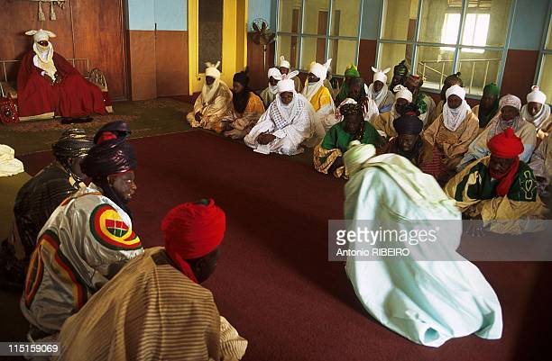 The Durbar in Kano Royal Ostentation for an Idolized Emir in Nigeria in January 2000 District Chiefs and High Ranking Nobility Renewing Oath of...