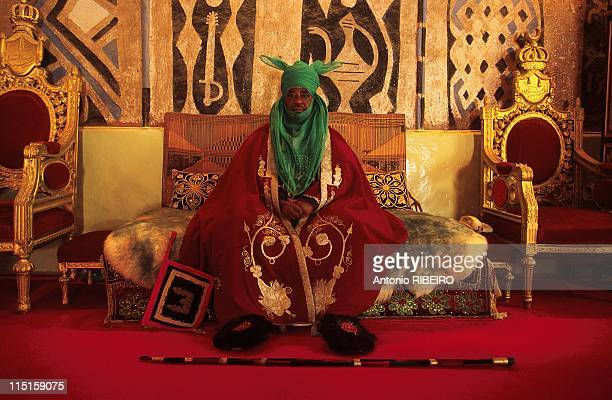 The Durbar in Kano Royal Ostentation for an Idolized Emir in Nigeria in January 2000 Emir Ado Bayero on his Main Throne