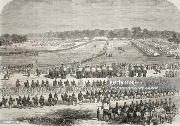 The Durbar or assembly of native princes and nobles convened by Sir John Lawrence at Lahore Pakistan illustration from the magazine The Illustrated...