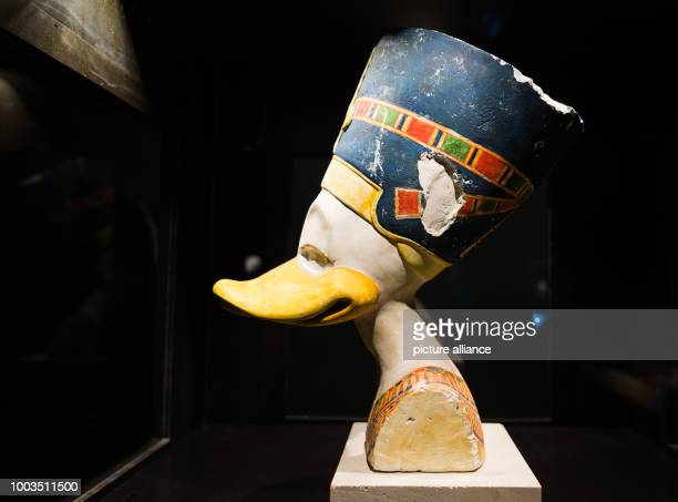 The Durckfretete made out of chalk and plaster is displayed at the special exhibition 'DUCKOMENTA' in the Archäologisches Museum Hamburg Germany 07...