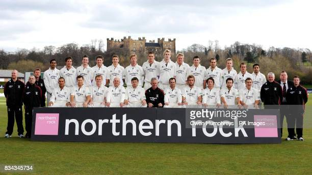 The Durham Cricket team back row Brian Hunt Alan Walker Mohammad Uzair Will Smith Lee Goddard Gordon Muchall Kyle Coetzer Mark Stoneman Gary Park...
