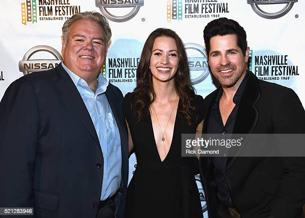 'The Dust Storm' Actors Jim O'Heir Kristen Gutoskie and JT Hodges attend the 2016 Nashville Film Festival Day 1 at Regal Green Hills on April 14 2016...