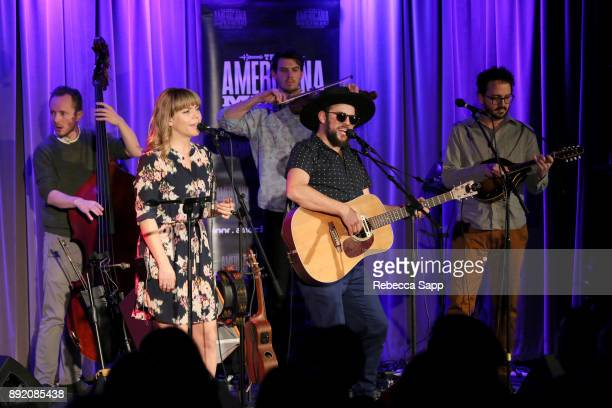 The Dustbowl Revival performs at Spotlight: The Dustbowl Revival at The GRAMMY Museum on December 13, 2017 in Los Angeles, California.