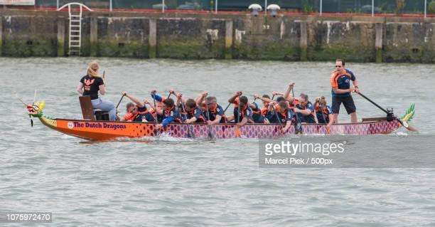 The Dutch Dragon boat rowing teams