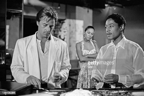 "The Dutch Oven"" Episode 4 -- Air Date -- Pictured: Don Johnson as Detective James 'Sonny' Crockett, Giancarlo Esposito as Adonis Jackson"