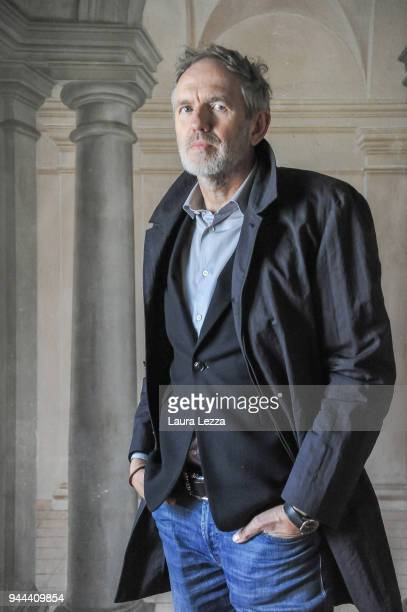The Dutch photographer film director music video director and visual artist Anton Corbijn attends Lucca Film Festival on April 10 2018 in Lucca Italy