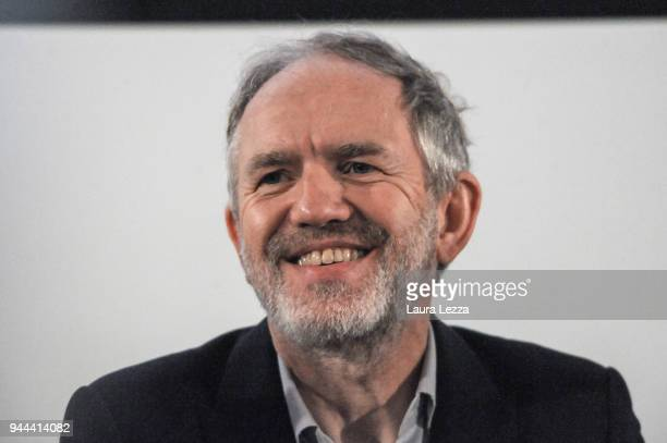 The Dutch photographer film director music video director and visual artist Anton Corbijn attends a discussion on cinema at the Lucca Film Festival...
