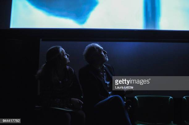 The Dutch photographer film director music video director and visual artist Anton Corbijn attends a discussion on cinema with translator Tessa...