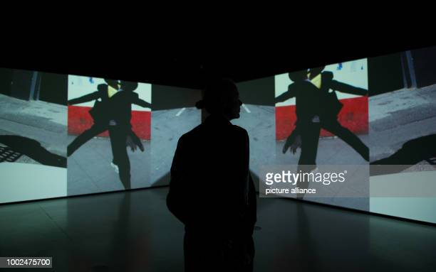 The Dutch photographer Viviane Sassen looks at her work 'Totem'at her exhibition 'Umbra' at the House of Photography in Hamburg Germany 12 May 2017...