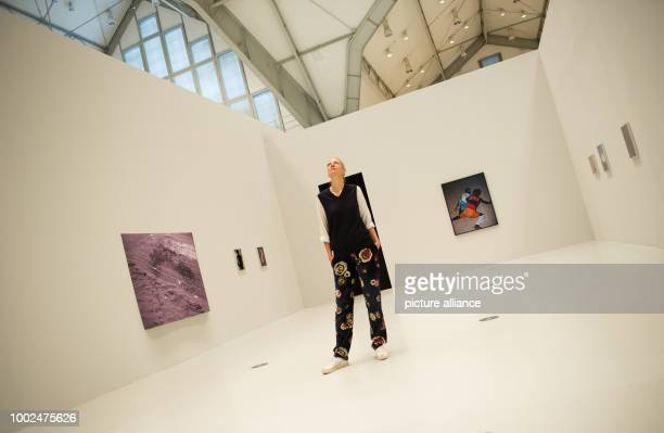 The Dutch photographer Viviane Sassen poses at her exhibition 'Umbra' at the House of Photography in Hamburg Germany 12 May 2017 'Umbra' is the first...