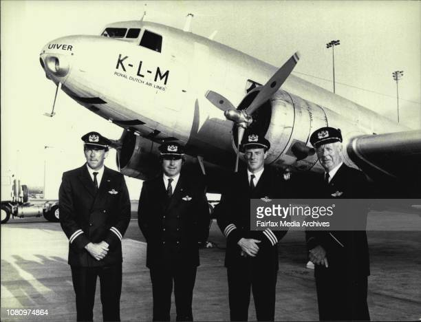The Dutch Plane KLM A DC2 Uiver arrived at Mascot International airport form Canberra this afternoonThe crew 1st officer Fred Schouten Crew member...