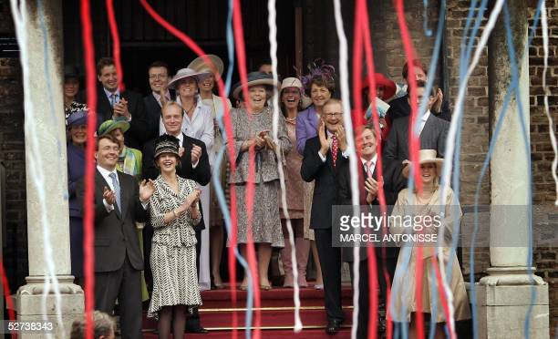 The Dutch royal family last row Aimee Soengen fiancee of prince Floris prince Floris prinses Laurentien prince Constantijn princess Marilene prince...