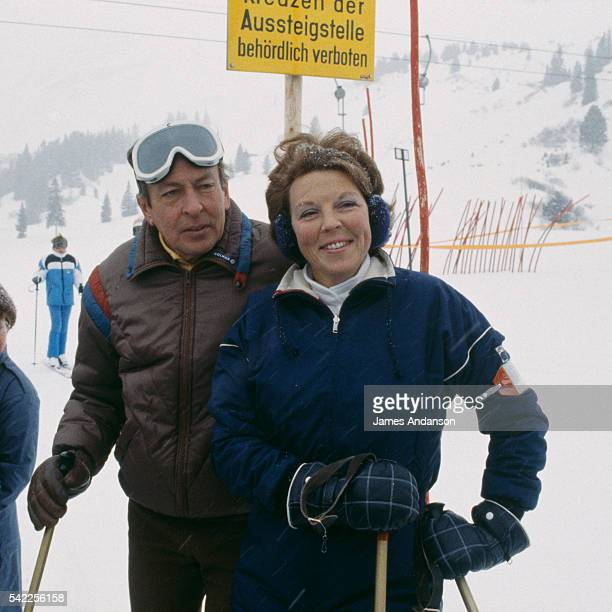 The Dutch Royal Family on the skislope during their winter vacation Her Majesty Queen Beatrix of the Netherlands His Royal Highness Prince Claus of...