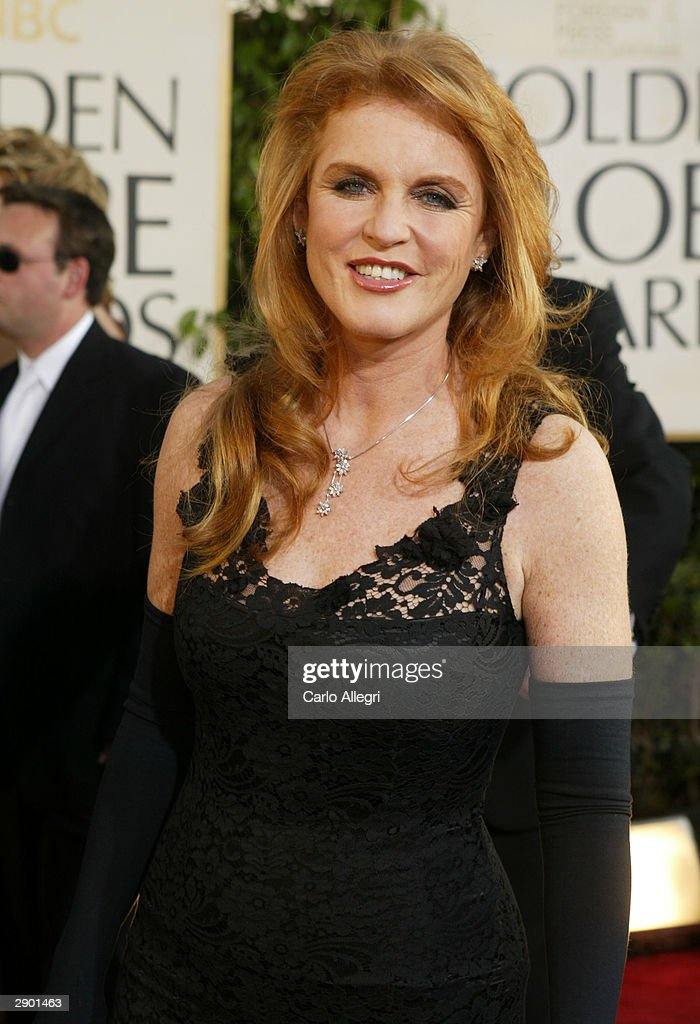 The Dutchess of York Sarah Ferguson attends the 61st Annual Golden Globe Awards at the Beverly Hilton Hotel on January 25, 2004 in Beverly Hills, California.