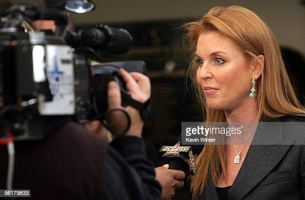 The Dutchess of York Sarah Ferguson is interviewed at the 2005 World Children's Day at the McDonalds Los Angeles Ronald McDonald House on November 15...