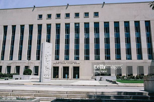 The E Barrett Prettyman United States Courthouse in Washington DC on Saturday June 28 2014 Ahmed Abu Khattala a Libyan thought to be responsible for...