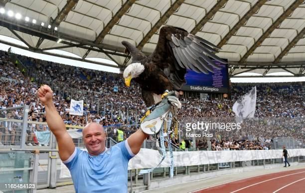 The eagle of SS Lazio Olimpia during the Serie A match between SS Lazio and AS Roma at Stadio Olimpico on September 1 2019 in Rome Italy