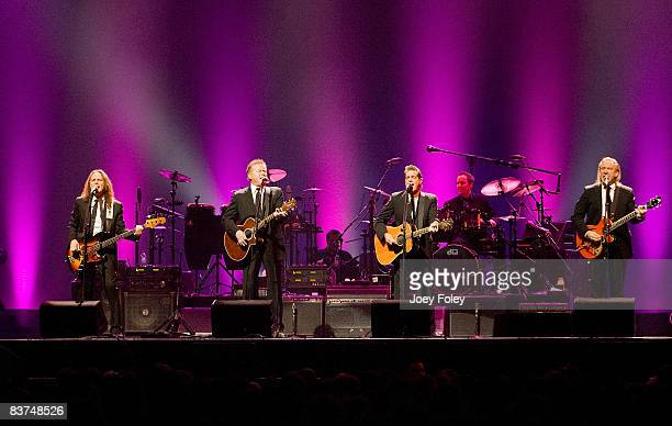 The Eagles perform live on their Long Road Out Of Eden Tour at U S Bank Arena on November 18 2008 in Cincinnati Ohio