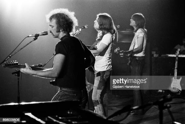 The Eagles perform on stage at the Concertgebouw, Amsterdam, Netherlands, 1972. L-R Bernie Leadon, Glenn Frey, Randy Meisner.