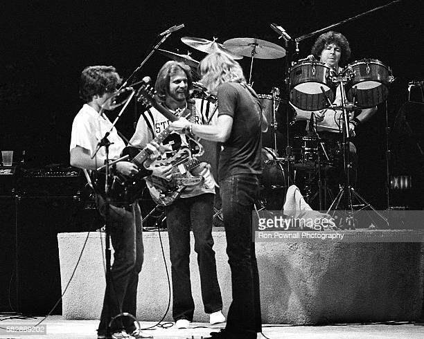The Eagles performing at The Boston Garden Oct 10 1979 Glenn Frey Don Felder Joe Walsh Don Henley