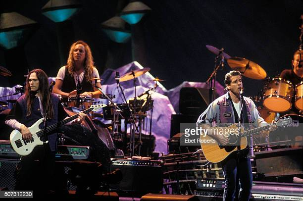 The Eagles performing at the Target Center in Minneapolis February 21 1995 Eagles Pictured L to R Timothy B Schmitt Glenn Frey and Don Henley