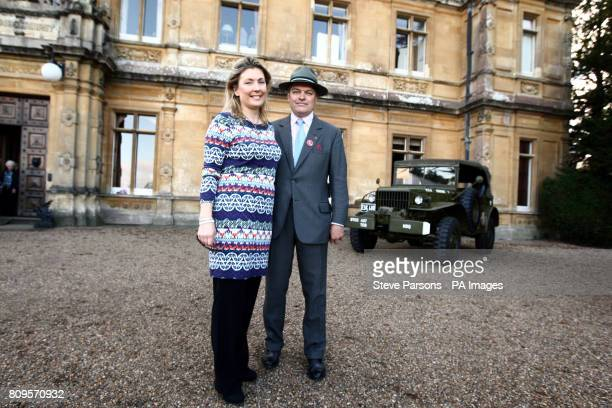 The Earl and Countess of Carnarvon host the Heroes at Highclere charity auction for armed forces at Highclere Castle near Newbury the location of TV...